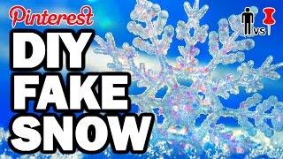 DIY FAKE SNOW - Pinterest Test #77 - Man Vs Pin