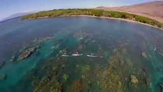 Morning SUP on Maui with the Schweitzer family