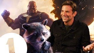 """""""Thanos has a point!"""" Bradley Cooper on Rocket Racoon and The Avengers"""