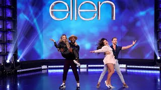 Addison Rae, Derek Hough, Allison Holker Boss, and tWitch Recreate a Famous TikTok!