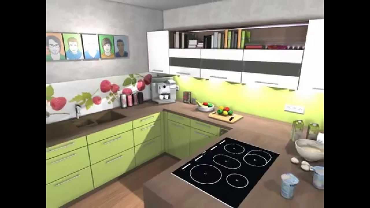 kundenplanung sch ller k che front pistazie youtube. Black Bedroom Furniture Sets. Home Design Ideas