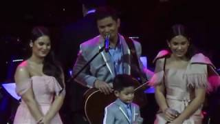 Ogie Alcasid Gets Emotional Singing with His Kids [OA 30th Concert 2018]