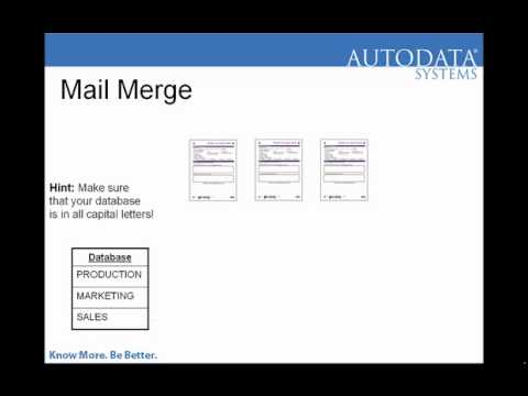 Barcode Mail Merge In Scannable Office