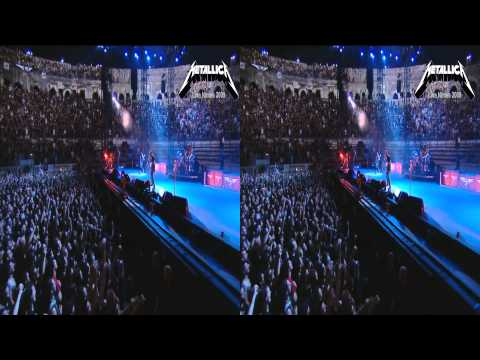 Metallica 3D SBS - Nothing else Matters HD 1080p Live Nimes 2009