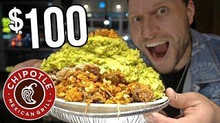$100 Chipotle Burrito Bowl CHALLENGE!