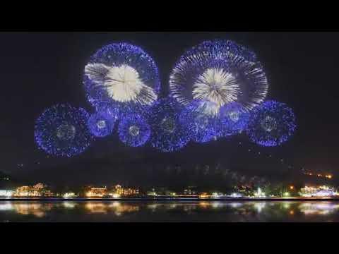 东京奥运开幕典礼烟花