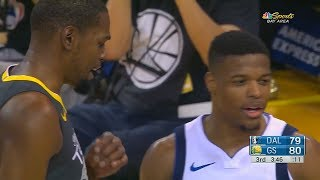 Kevin Durant SHUTS UP DENNIS SMITH JR FOR TRASH TALKING AND TRYING TO DUNK ON HIM!