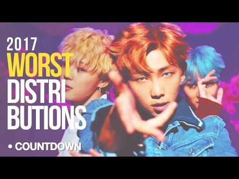[ TOP 16 ] WORST Kpop Line Distributions of 2017 ( CountDown )