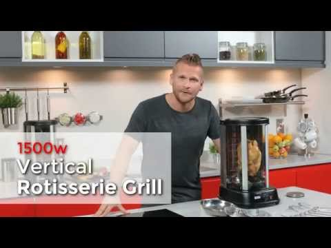Rotating Vertical Rotisserie Grill