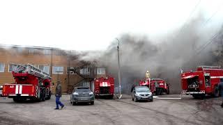 Пожар в здании на ул. Кирова, 191