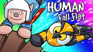 Human Fall Flat Funny Moments - Delivering Presents With a Busted Train!