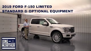2019 FORD F-150 LIMITED COMPLETE GUIDE: STANDARD AND OPTIONAL EQUIPMENT