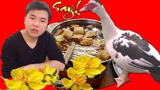 Cuộc sống Đài Loan -Lần đầu ăn lẩu vịt nấu gừng (Jiang Mu Ya) cùng bạn Đài Loan