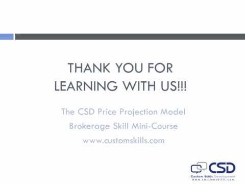 The CSD Price Projection Model - Training for Commercial Real Estate Agents