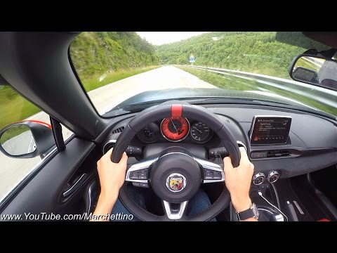 YOU Drive the Abarth 124 Spider Fast! - POV Test Drive