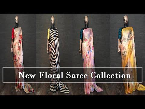 Buy Party Wear Designer Saree   Trending Sarees   Ruffle Saree Online   ...