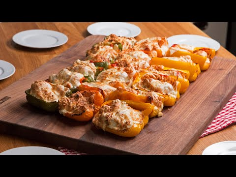 Chix Parm Stuffed Bell Peppers