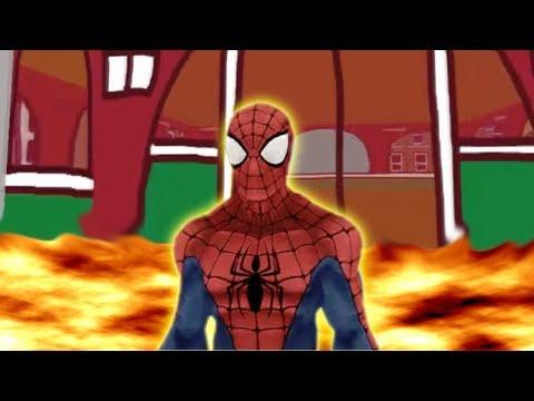 SPIDERMAN VS NEIGHBOR   FLOOR is LAVA CHALLENGE