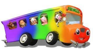 Колеса на автобусе | 3d детские рифмы для детей | автобус песня | The Wheels On The Bus Song