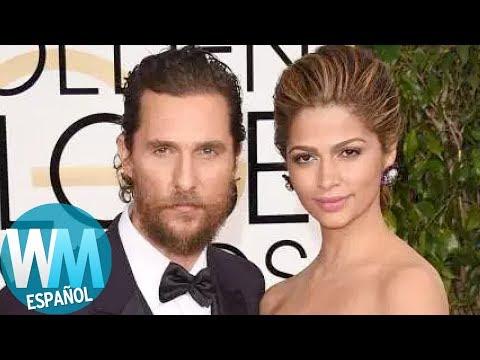 ¡Top 10 Famosos de Hollywood Casados con LATINAS!