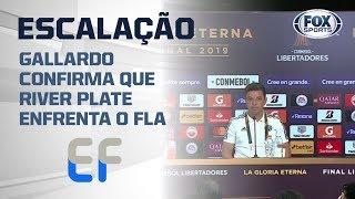 Gallardo confirma que River Plate enfrenta o Flamengo; veja a escalação