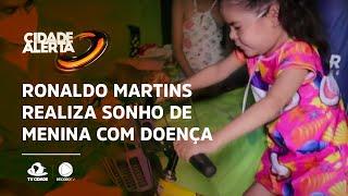 Apresentador Ronaldo Martins realiza sonho de telespectadora especial