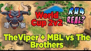 Age of Empires World Cup 2v2 so high quality play Viper MbL vs The Brothers