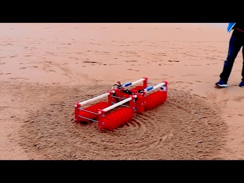 SCREW DRIVE RC TANK #5 FIELD TEST!
