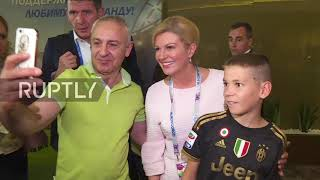 Russia: Croatian President praises security ahead of Russia quarterfinal