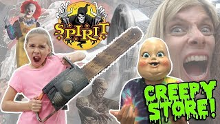 WORLD'S CREEPIEST STORE!!! Scary Shopping at SPIRIT HALLOWEEN STORE - 2017!