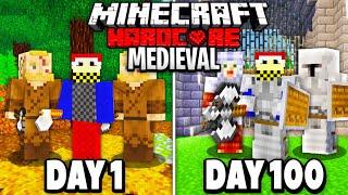 I Spent 100 Days in Hardcore Medieval Minecraft...