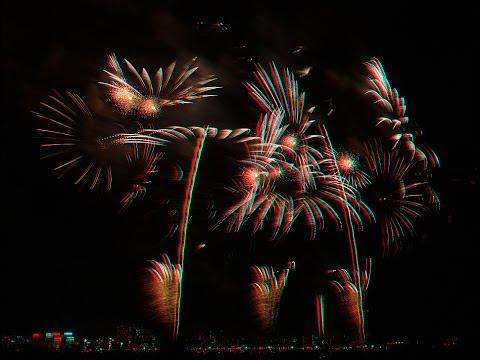 3D alpha blending Toride Fireworks 2015