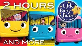 Wheels On The Bus | Part 2 Compilation! | 2+ Hours of Nursery Rhymes by LittleBabyBum!