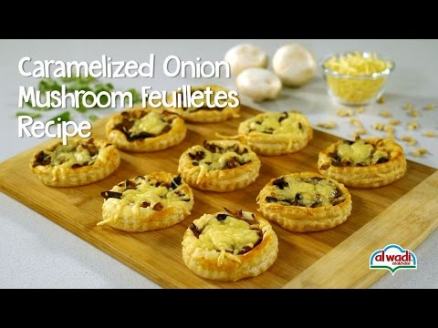 Caramelized Onion Mushroom Feuilletes Recipe