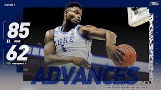 Watch Duke, Zion Williamson advance past NDSU (Extended highlights)
