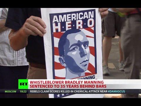 Bradley Manning sentenced to 35 years behind bars