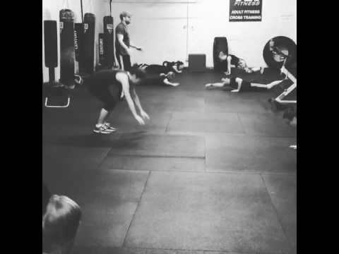 Lateral roll burpees