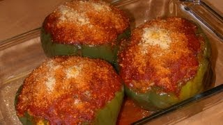 Stuffed Green Bell Pepper Cups with Michael's Home Cooking