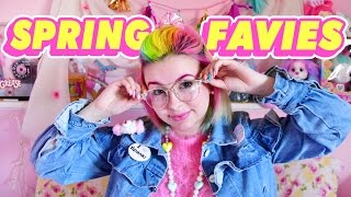 ♡ SPRING FAVIES 2017 | Rainbow Hair, Retro Glasses, & More! ♡
