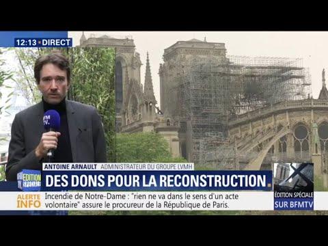 LVMH va faire don de 200 millions d'euros pour la reconstruction de Notre-Dame