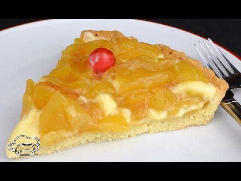 Como hacer una tarta de crema y manzana caramelizada MUY FÁCIL