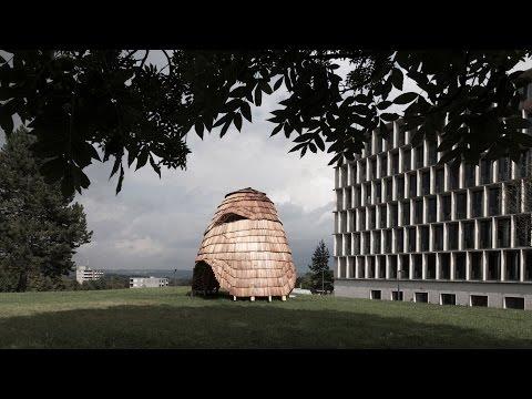 ETH Zurich students create shingle-clad pavilion using robotic fabrication