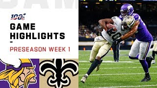 Vikings vs. Saints Preseason Week 1 Highlights | NFL 2019