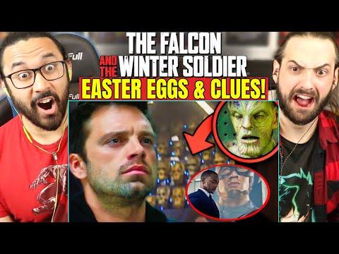 FALCON AND WINTER SOLDIER TRAILER EASTER EGGS & BREAKDOWN   REACTION!! (Trailer 2   Super Bowl 2021)