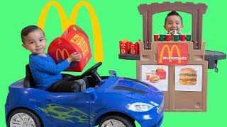 McDonald's Happy Meal Drive Thru Pretend Play With CKN Toys