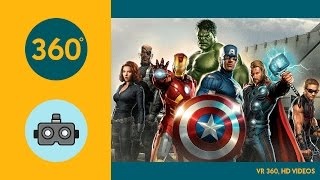 VR 360,  HD Battle for the Avengers Tower 1080s