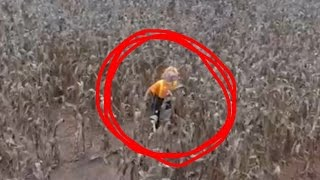 CORNFIELD CLOWN FOUND WITH DRONE!?!?