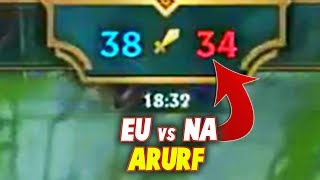 That ARURF GAME At RIFT RIVALS 2018 ft,( Rekkles, Doublelift, Aphromoo...)