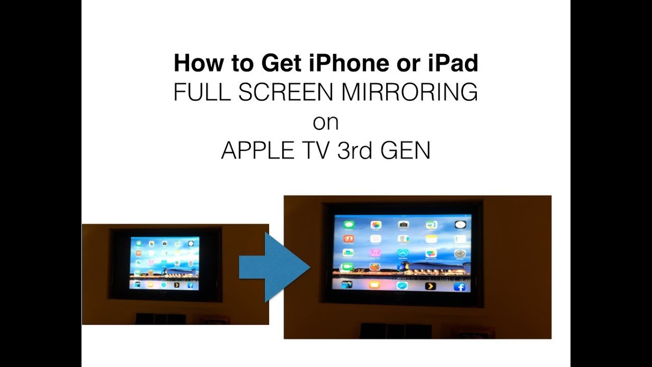 how to mirror iphone to mac get iphone mirroring screen on apple tv 3 3333