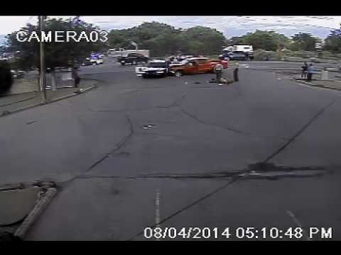 Surveillance footage: Deputy shoots, kills man who rammed into him
